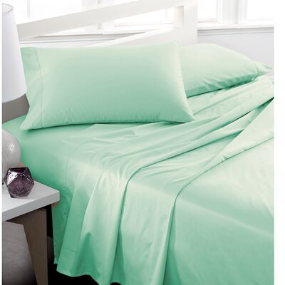 600 Thread Count 100% Cotton Deep Pocket Sheet Set Color: Green, Size: Full/Double