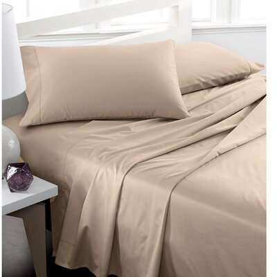 600 Thread Count 100% Cotton Deep Pocket Sheet Set Color: Taupe, Size: Full/Double