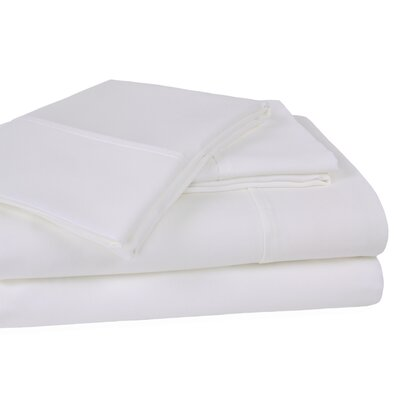 400 Thread Count 100% Cotton Sheet Set Color: White, Size: King