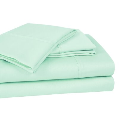 400 Thread Count 100% Cotton Sheet Set Color: Aqua, Size: King