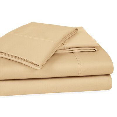 400 Thread Count 100% Cotton Sheet Set Color: Beige, Size: Queen