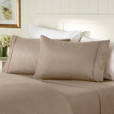 400 Thread Count 100% Cotton Sheet Set Color: Taupe, Size: Queen