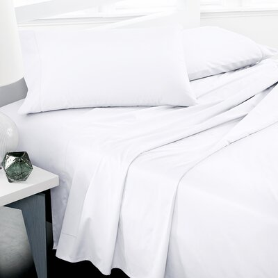 600 Thread Count 100% Cotton Deep Pocket Sheet Set Color: White, Size: King