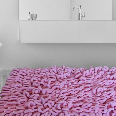 Micro Chenille Thick and High Loop Bath Rug Color: Pink