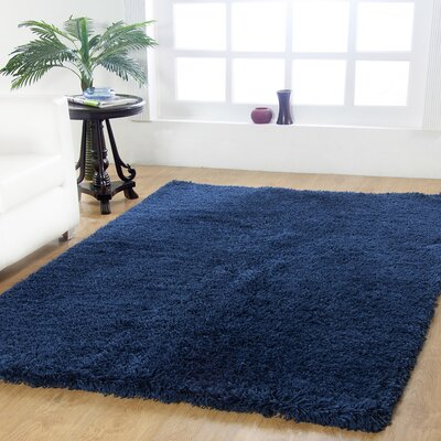 Affinity Hand-woven Navy Area Rug Rug Size: Rectangle 4 x 6