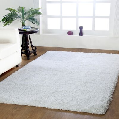 Affinity Hand-woven White Area Rug Rug Size: 5 x 8