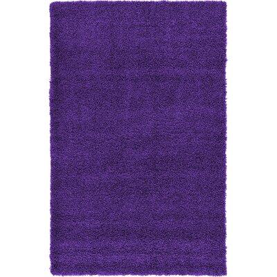 Hand-Woven Purple Area Rug Rug Size: 3 x 5