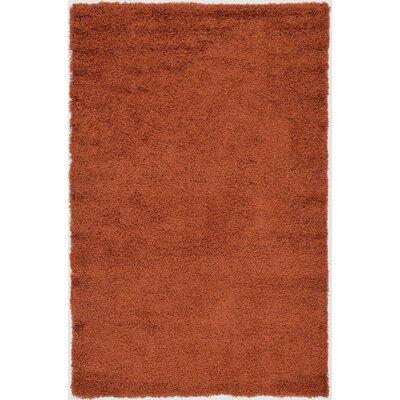 Hand-Woven Rust Orange Area Rug Rug Size: 5 x 8