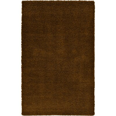 Hand-Woven Cocoa Area Rug Rug Size: 5 x 8