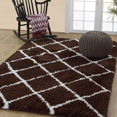 Hand-Woven Cocoa/Brown Area Rug Rug Size: Rectangle 3 x 5