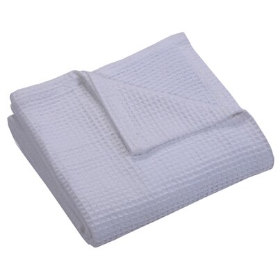 Zaida Woven Cotton Throw Blanket Color: White, Size: Twin