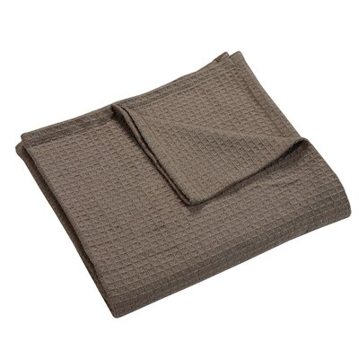 Zaida Woven Cotton Throw Blanket Color: Taupe, Size: King