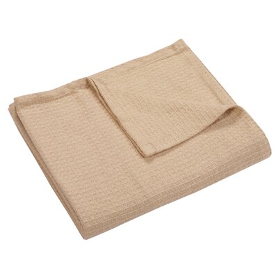 Zaida Woven Cotton Throw Blanket Color: Beige, Size: Queen