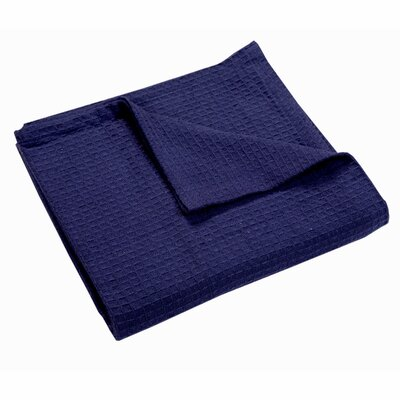 Zaida Woven Cotton Throw Blanket Color: Indigo, Size: King