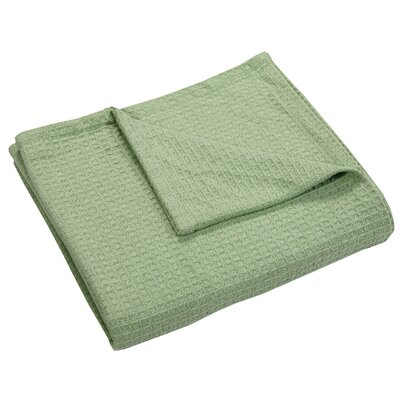 Zaida Woven Cotton Throw Blanket Color: Sage, Size: Twin