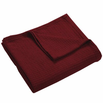 Zaida Woven Cotton Throw Blanket Color: Merlot, Size: King