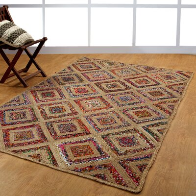 Hand-Woven Natural Area Rug Rug Size: 6 x 9