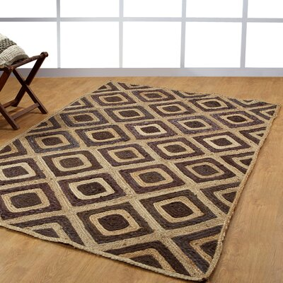 Hand-Woven Natural/Brown Area Rug Rug Size: 5 x 8