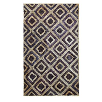 Hand-Woven Natural/Brown Area Rug Rug Size: 4 x 6