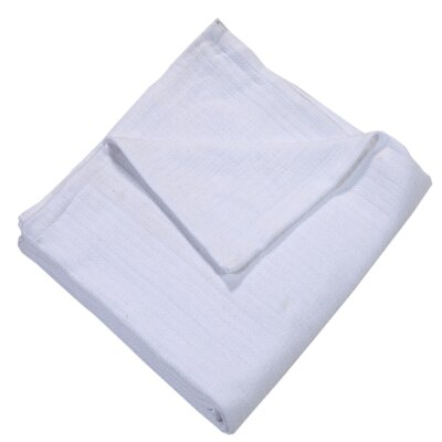 Grant Woven 100% Cotton Throw Blanket Color: White, Size: King