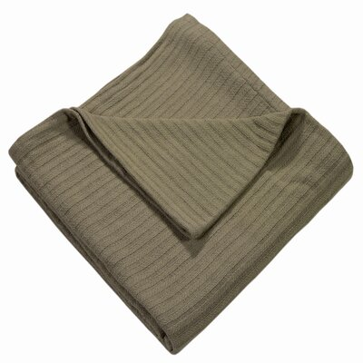 Grant Woven 100% Cotton Throw Blanket Color: Taupe, Size: Twin