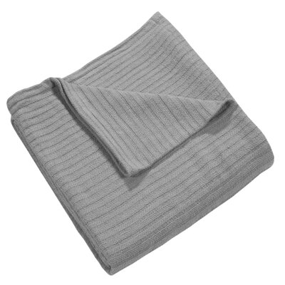 Grant Woven 100% Cotton Throw Blanket Color: Silver Gray, Size: Twin