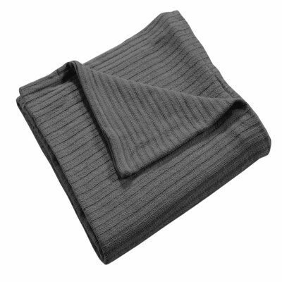 Grant Woven 100% Cotton Throw Blanket Color: Platinum, Size: Twin