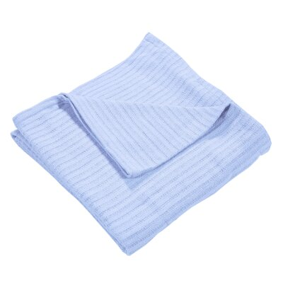 Grant Woven 100% Cotton Throw Blanket Color: Blue, Size: Twin