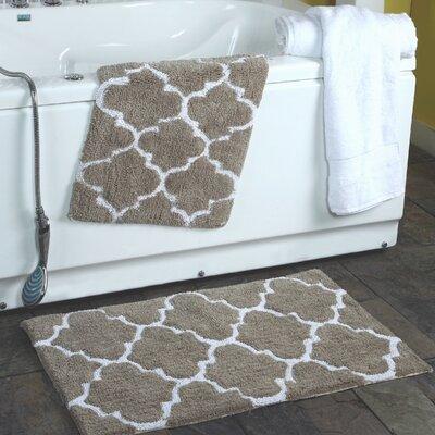 get 2 piece moroccan trellis bath rug set color