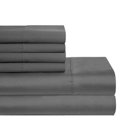 300 Thread Count 100% Cotton Sheet Set Color: Gray, Size: Full