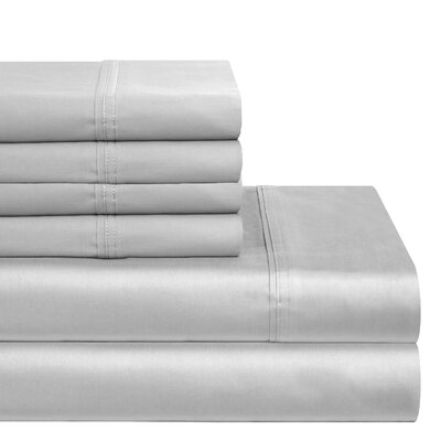 300 Thread Count 100% Cotton Sheet Set Color: Silver Gray, Size: Full