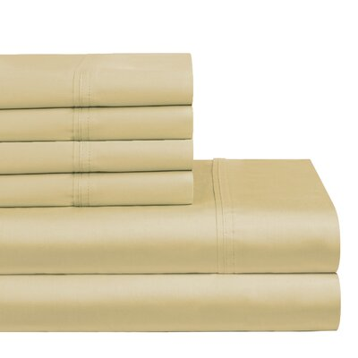 300 Thread Count 100% Cotton Sheet Set Size: Queen, Color: Beige