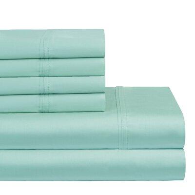 300 Thread Count 100% Cotton Sheet Set Color: Aqua, Size: King