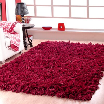 Cozy Hand-Woven Red Area Rug Rug Size: 3 X 5