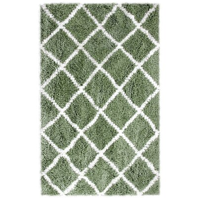 Hand-Woven Sage Area Rug Rug Size: Rectangle 5 x 8