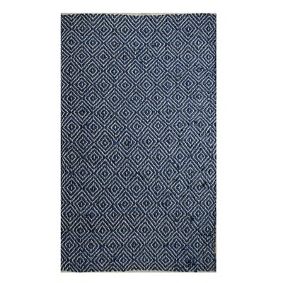 Hand-Woven Navy Area Rug Rug Size: 8 x 10