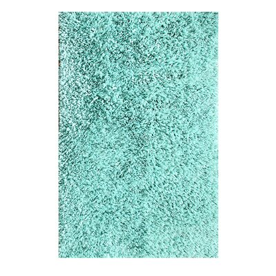 Hand Woven Shag Aqua Area Rug Rug Size: Rectangle 5 x 8
