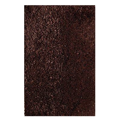 Hand Woven Shag Cocoa Area Rug Rug Size: Rectangle 5 x 8