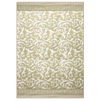 Jacquard Cozy Cotton Throw Blanket Color: Beige/White