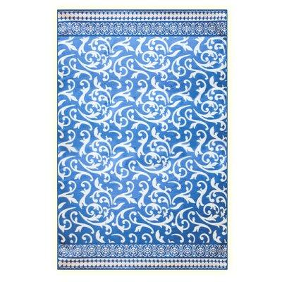 Jacquard Design Cotton Blanket Color: Blue