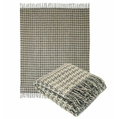 Pure Wool Throw Blanket Color: Gray