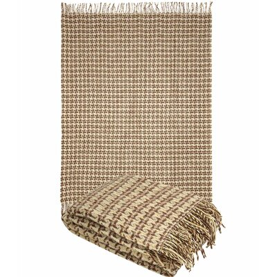 Pure Wool Throw Blanket Color: Camel