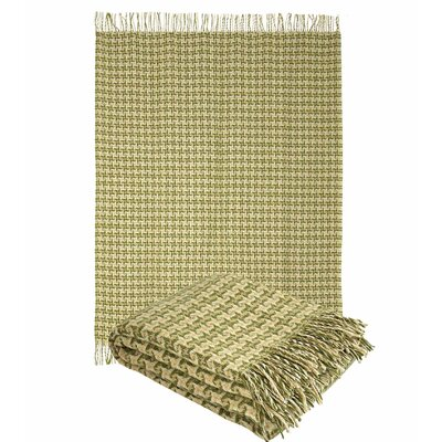 Pure Wool Throw Blanket Color: Olive