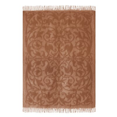 Vintage Camel Wool Throw Blanket