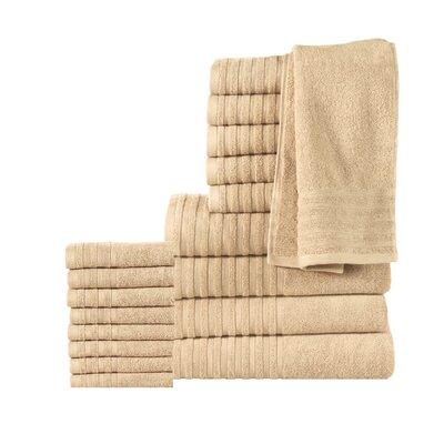 18 Piece Towel Set Color: Beige