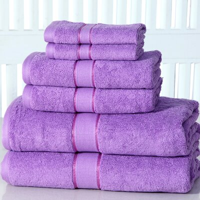 Lucinda Luxurious 6 Piece Towel Set Color: Lilac