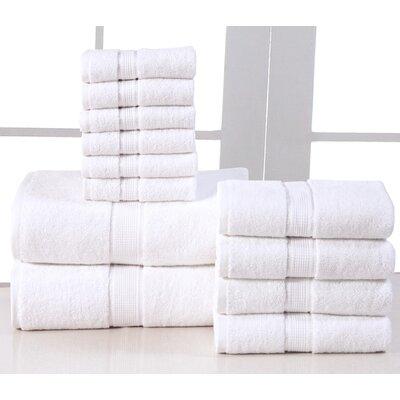 12 Piece Towel Set Color: White