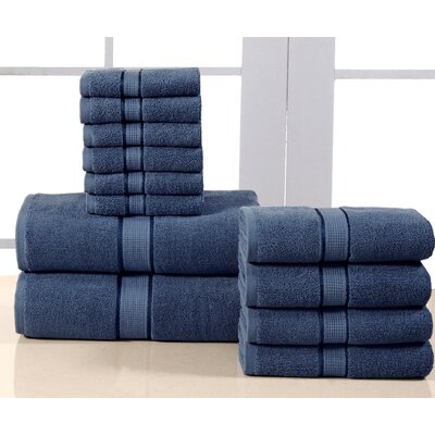 12 Piece Towel Set Color: Bluestone