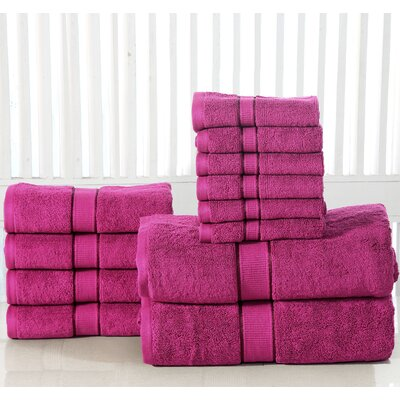 12 Piece Towel Set Color: Plum