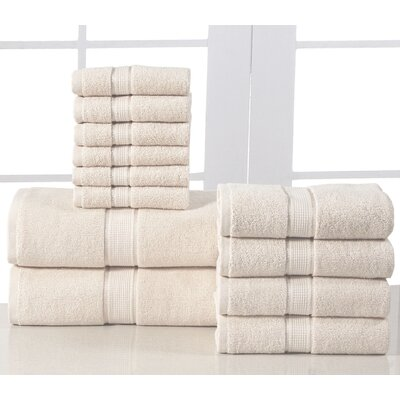 12 Piece Towel Set Color: Linen